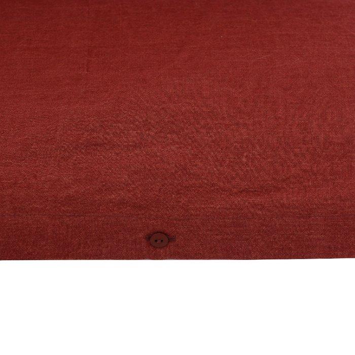 Пододеяльник изо льна бордового цвета 200x220