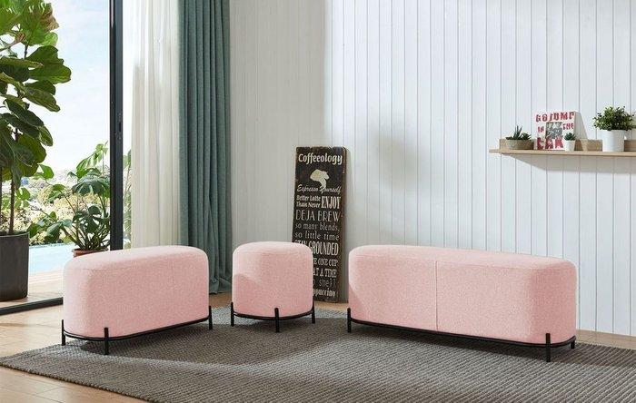 Банкетка Coco M розового цвета