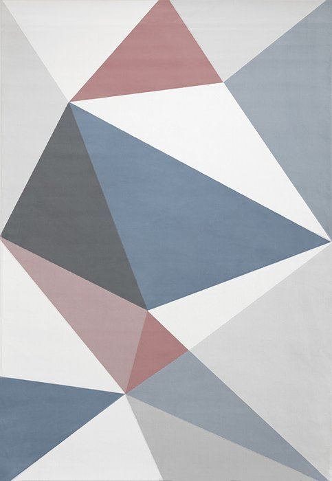 Ковер Novelle Prism 135х195 серо-синего цвета