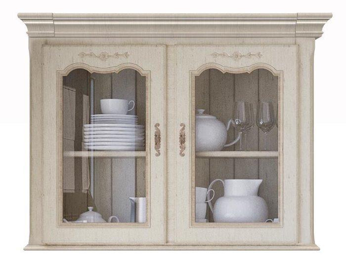 Двухдверный навесной шкаф Поместье со стеклом