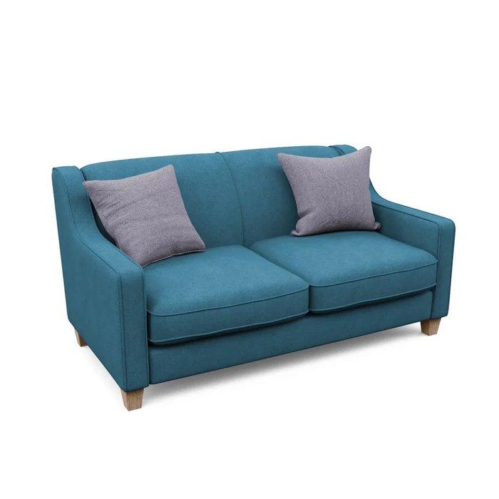 Двухместный диван Агата M синего цвета