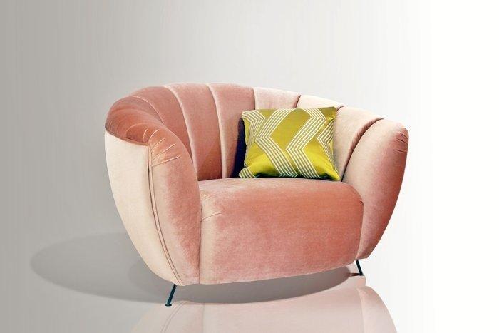 Кресло Leaf с бархатной обивкой