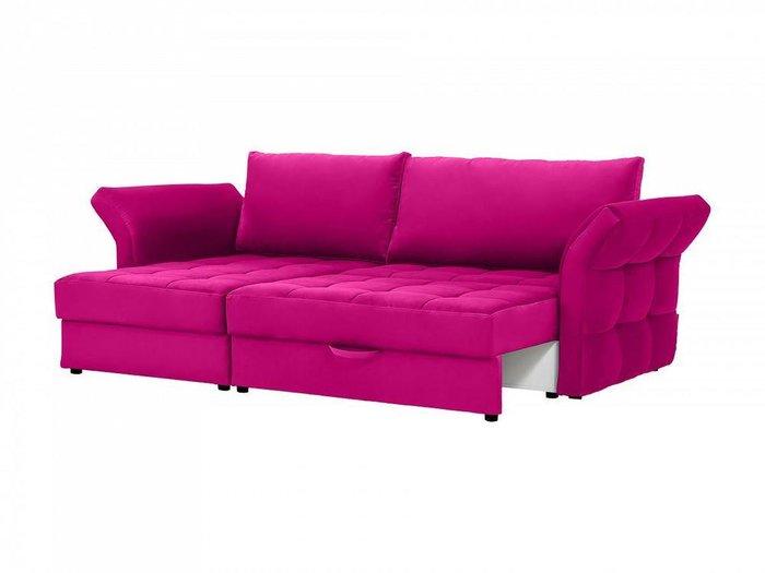 Угловой диван-кровать Wing розового цвета