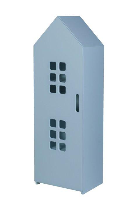Стеллаж-домик City1 серо-голубого цвета