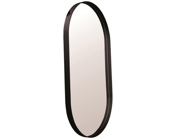 Настенное зеркало Ванда 40х80 в раме черного цвета