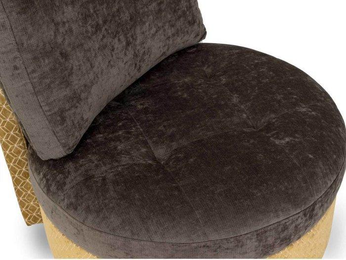 Кресло Wing Round черно-бежевого цвета
