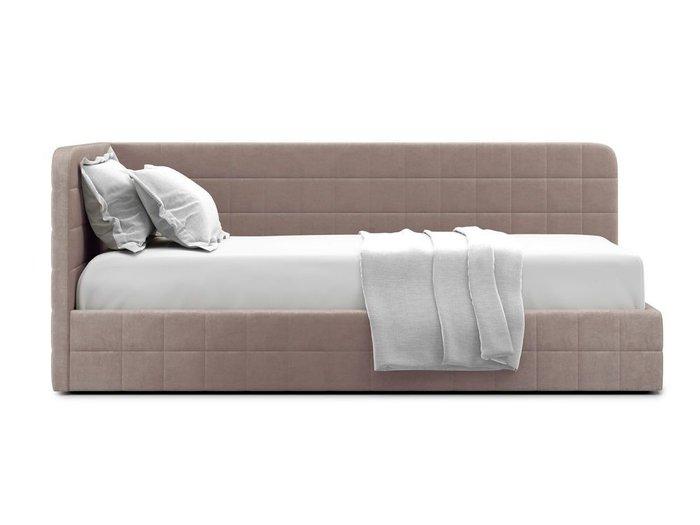 Кровать с подъемным механизмом Tichina left 90х200 бежевого цвета