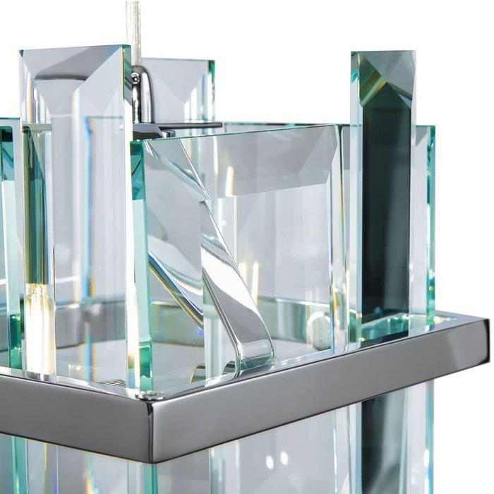 Подвесной светильник Cerezo из металла и хрусталя