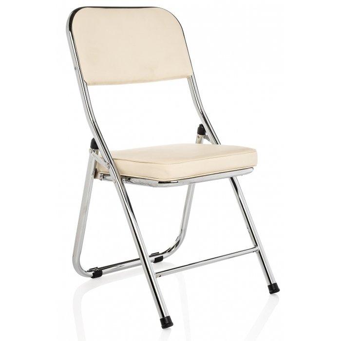 Стул Chair бежевого цвета на металлических ножках