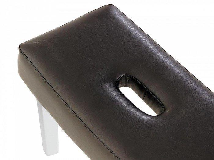 Пуф мягкий Handy темно-коричневого цвета
