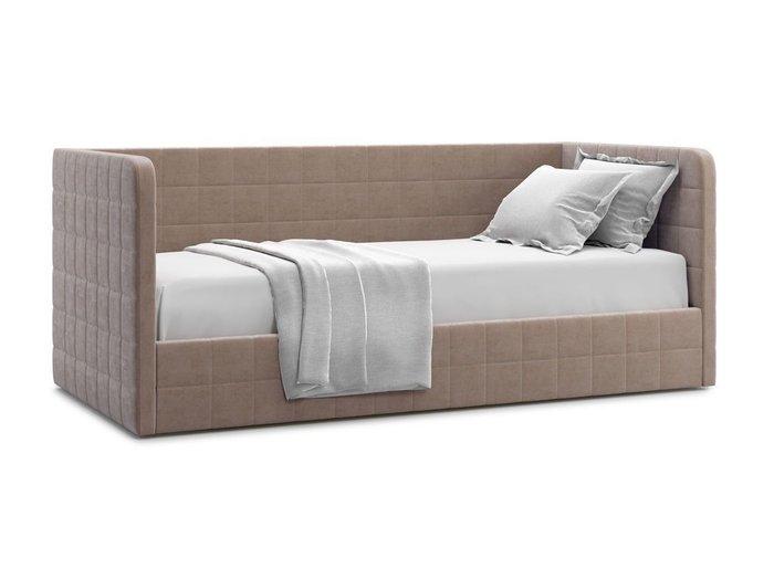Кровать с подъемным механизмом Brenta 90х200 темно-бежевого цвета