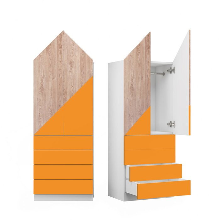 Шкаф Норвежский лес L с фасадом оранжево-коричневого цвета