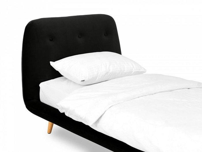 Кровать Loa 90х200 черного цвета