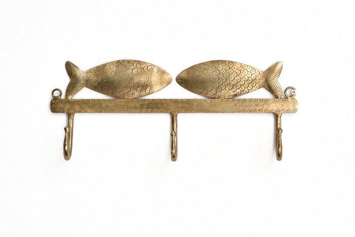 Вешалка с декором из рыб бронзового цвета