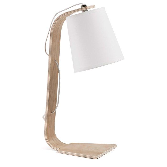 Настольная лампа Julia Grup PERCY с белым абажуром
