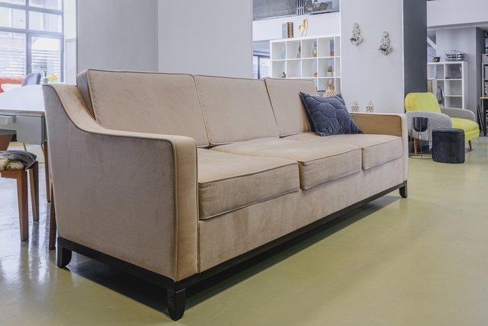 Прямой диван Франциско L зеленого цвета