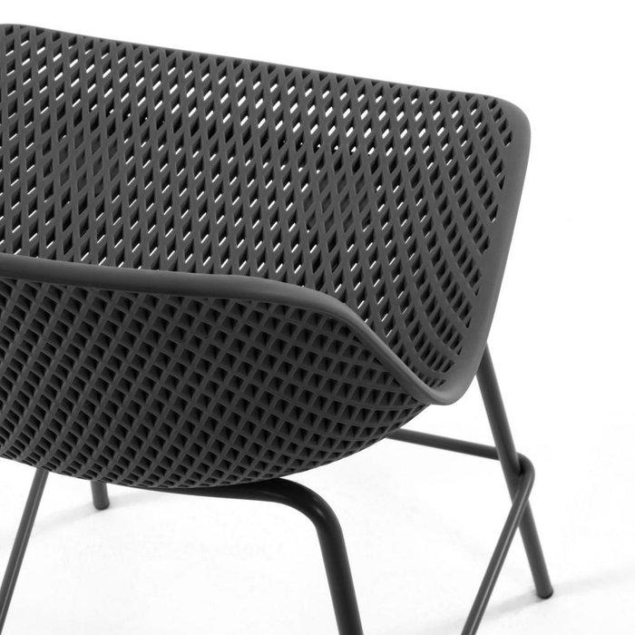 Полубарный стул Grey Quinby темно-серого цвета