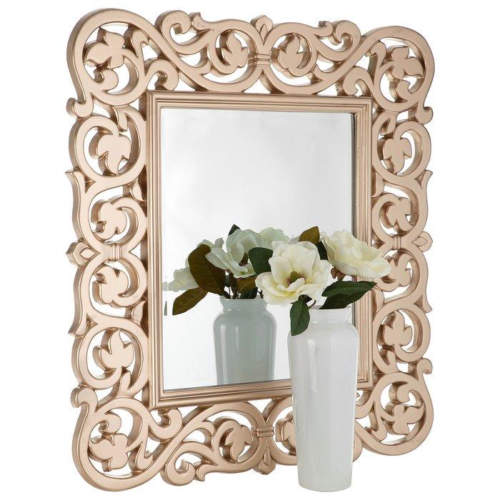 Зеркало настенное Женева цвета шампань золото