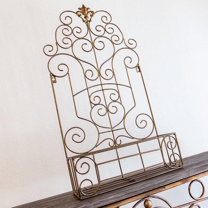 Полка-жардиньерка Люксембургский сад L бронзового цвета