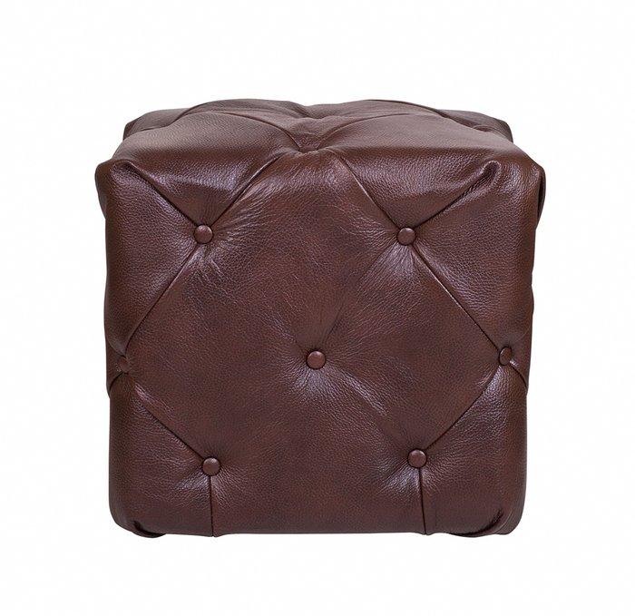 Пуф Amrit brown leather коричневого цвета