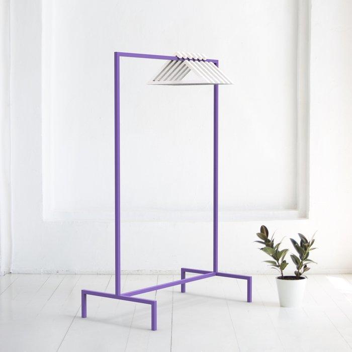 Вешалка напольная Metalframe в фиолетовом цвете