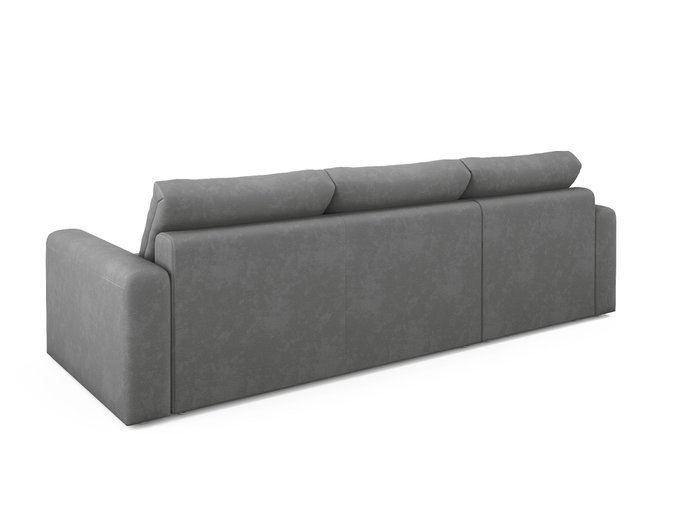 Угловой диван-кровать левый Ruiz серого цвета