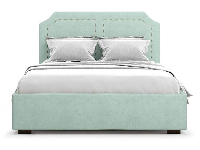 Кровать с подъемным механизмом Lago 160х200 мятного цвета
