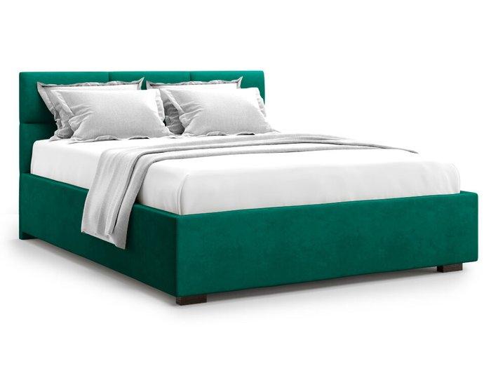 Кровать Bolsena 140х200 зеленого цвета с подъемным механизмом