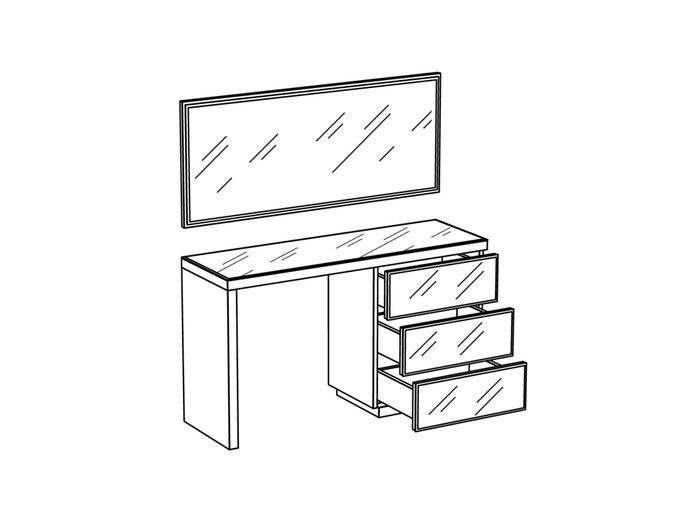 Туалетный столик Kristal с тремя ящиками
