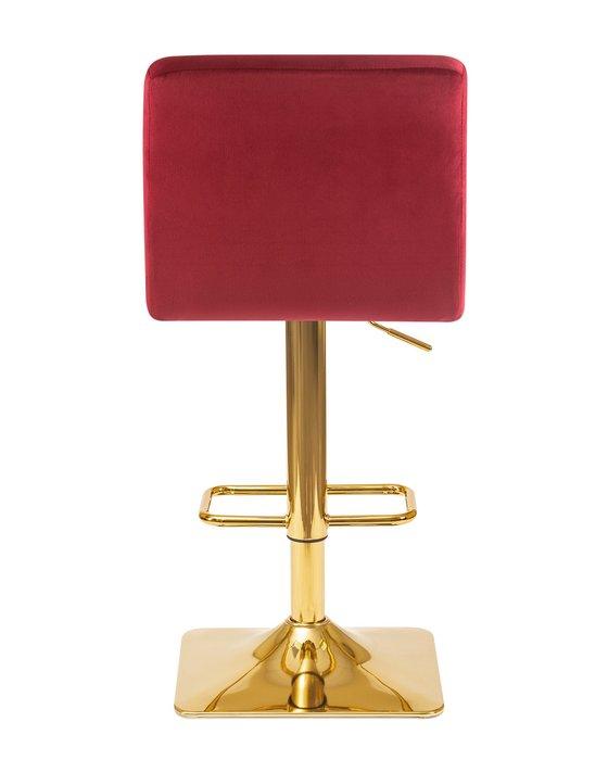 Стул барный Goldie бордового цвета