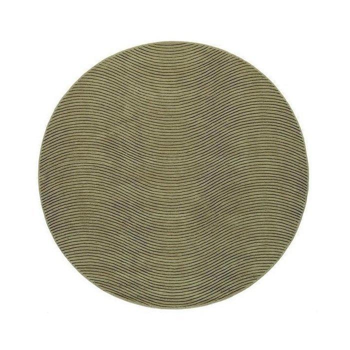 Круглый ковер Ona зеленого цвета 150 см