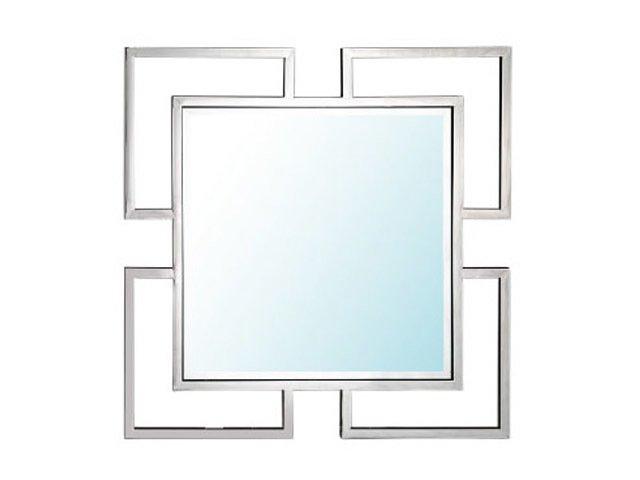 Настенное зеркало Moore silver с металлической рамой