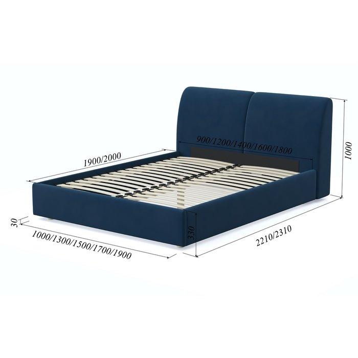 Кровать Бекка 140x200 синего цвета