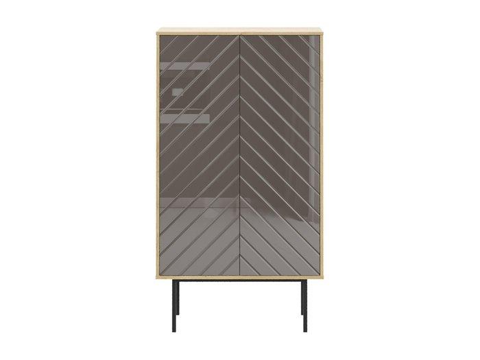 Шкаф Boho со стеклом на фасаде коричневого цвета