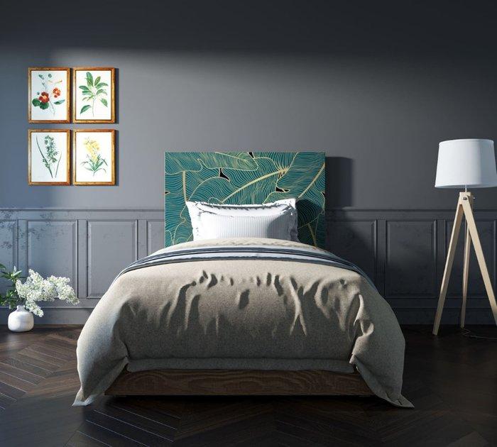Кровать Berber 120х200 бежево-зеленого цвета