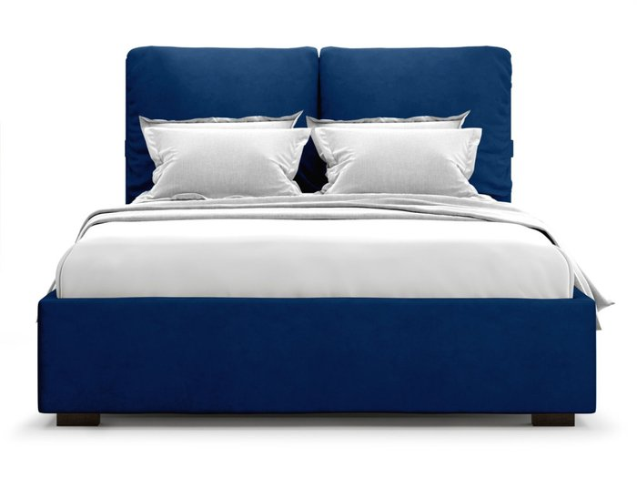 Кровать Trazimeno 160х200 синего цвета с подъемным механизмом