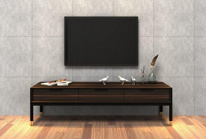 Тумба под TV Benissa с тремя выдвижными ящиками