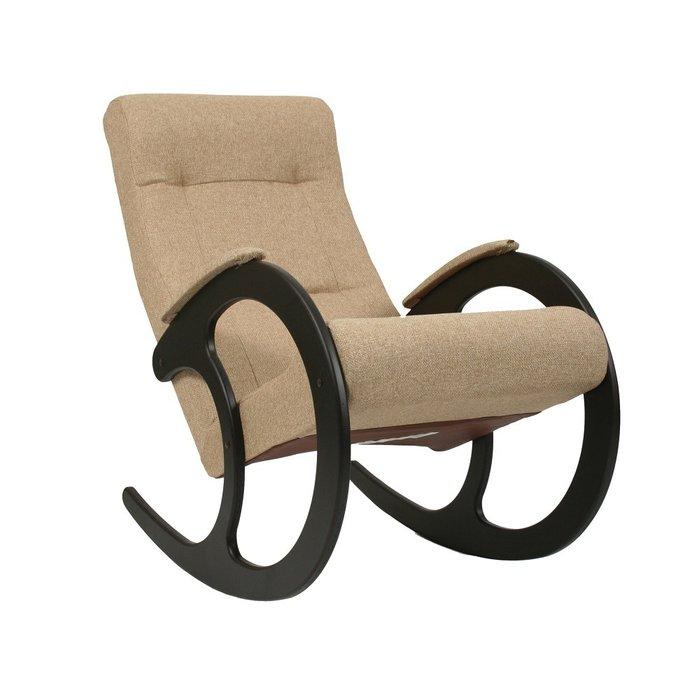 Кресло-качалка Модель 3 бежевого цвета