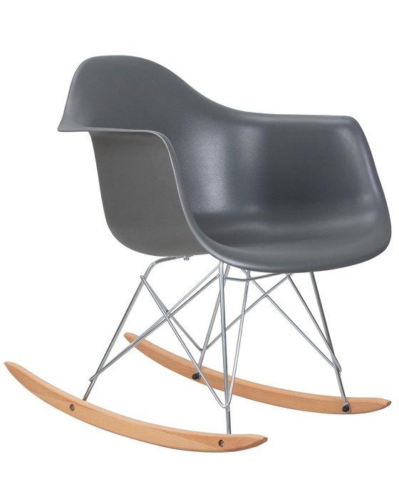Кресло-качалка Rock серого цвета