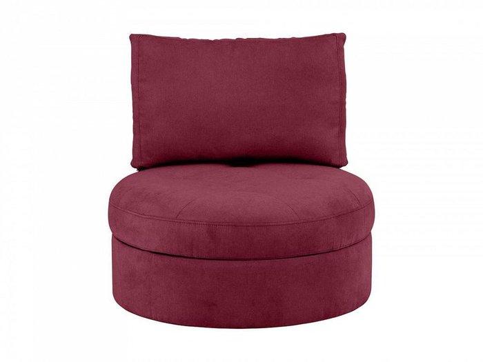 Кресло Wing Round бордового цвета