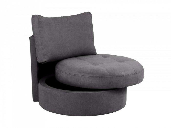 Кресло Wing Round темно-серого цвета