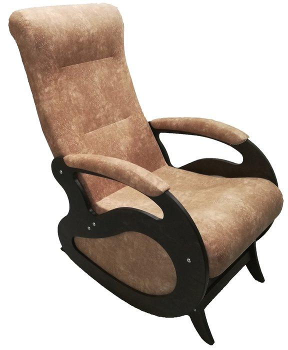 Кресло-качалка Маятник серо-коричневого цвета