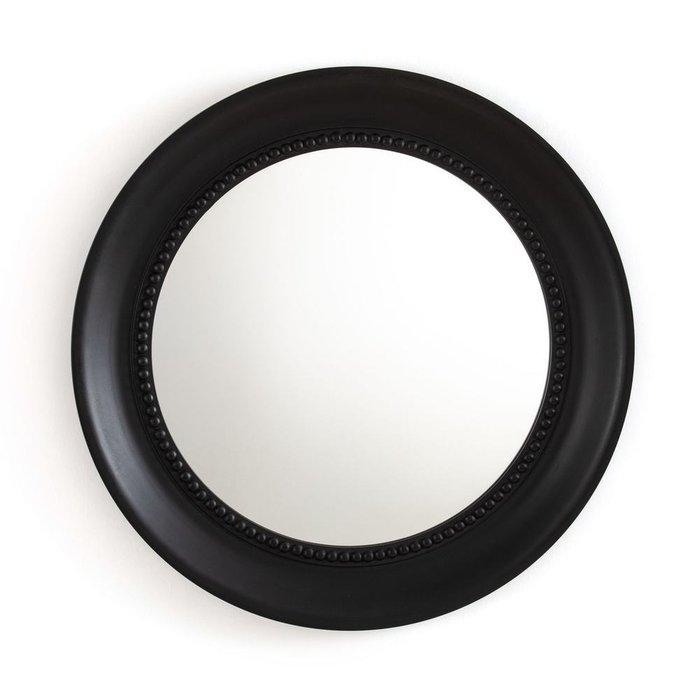 Настенное зеркало Afsan в раме черного цвета
