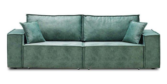 Прямой диван-кровать Фабио зеленого цвета