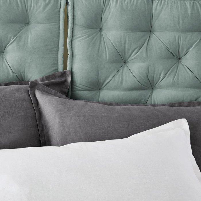 Подушка для изголовья кровати серо-зеленого цвета 50x70