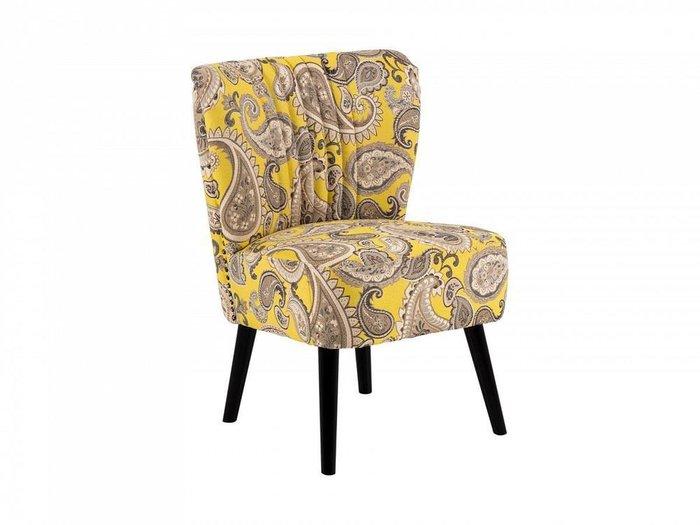 Кресло Barbara бежево-желтого цвета