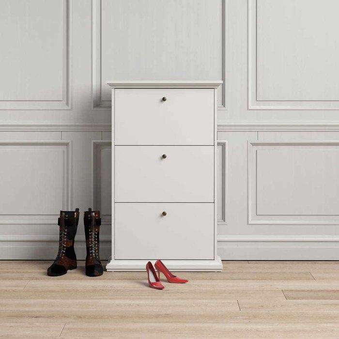 Обувница Paris белого цвета
