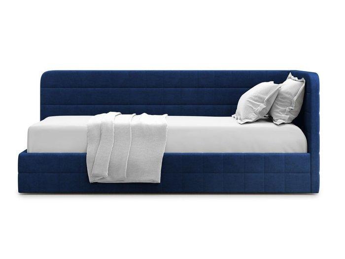 Кровать с подъемным механизмом Tichina 120х200 синего цвета