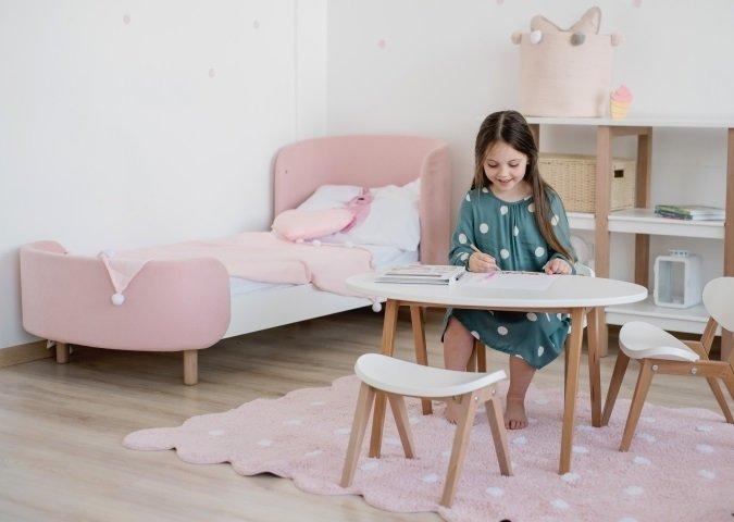 Кровать Kidi Soft 65х163 бело-розового цвета