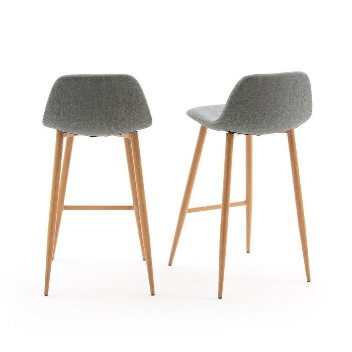 Комплект из двух барных стульев Nordie серого цвета